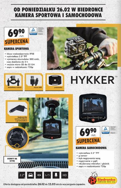 Kamery Hykker W Biedronce Gazetki Promocyjne