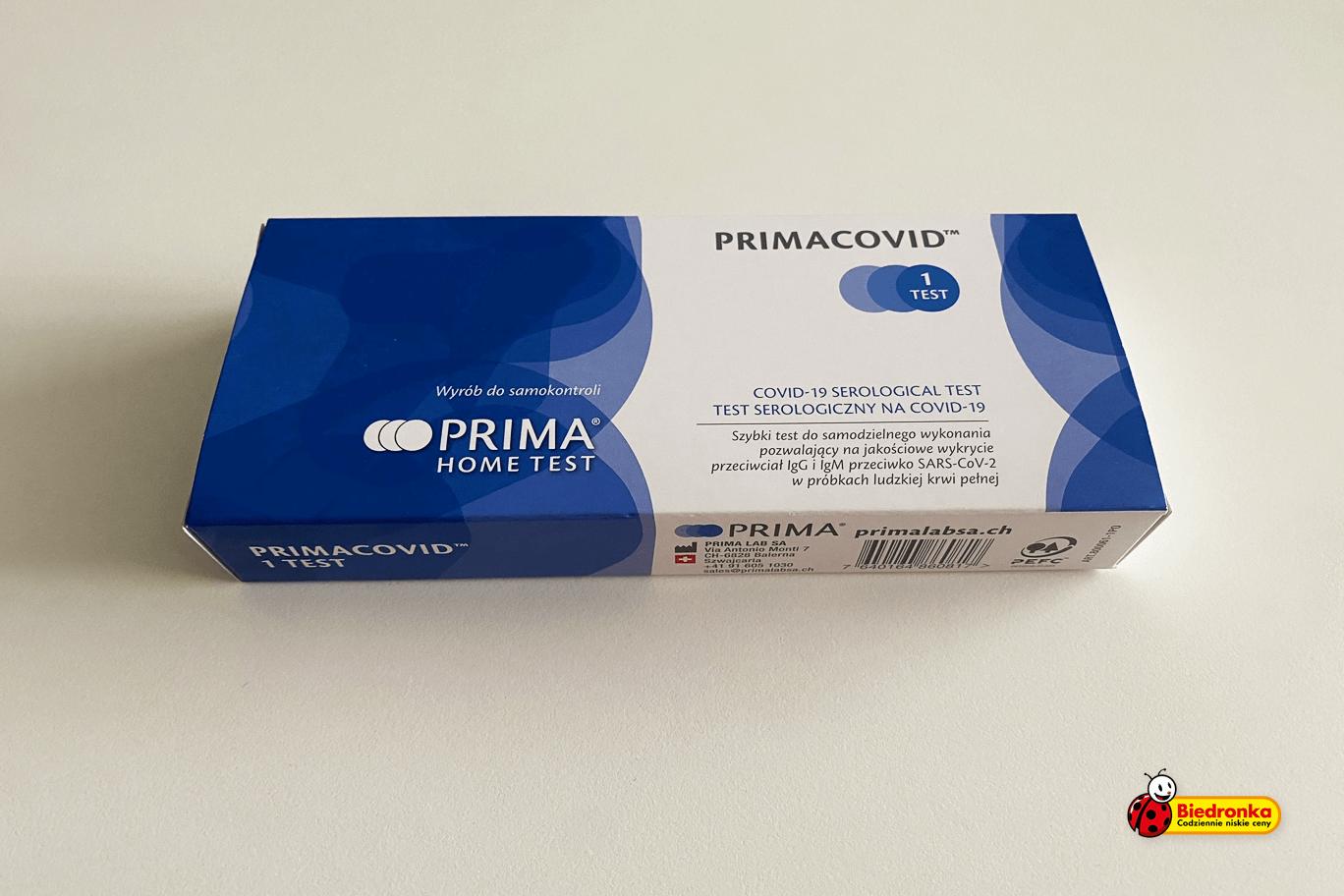 Test na obecność przeciwciał COVID-19 w Biedronce. Czy warto?