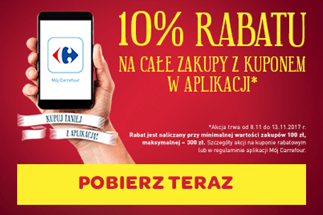 Rabat z aplikacją w sklepach Carrefour!