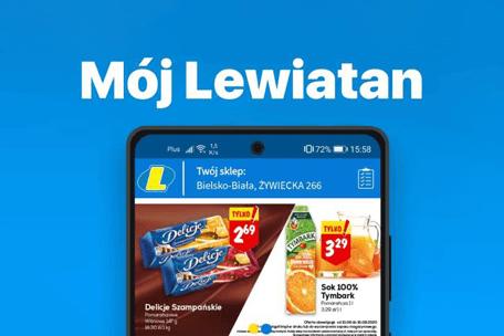 """""""Mój Lewiatan"""" – kolejna sieć wprowadza własną aplikację mobilną"""