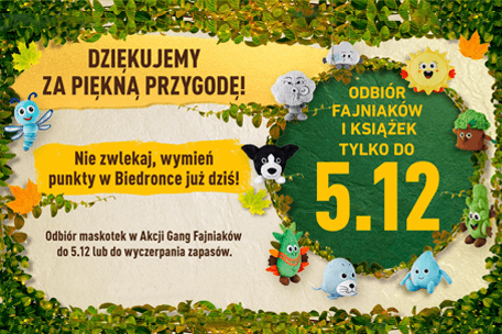 Gang Fajniaków na dłużej w Biedronce!