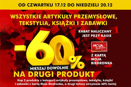 Weekend zniżek w Biedronce – 60% rabatu na wiele produktów