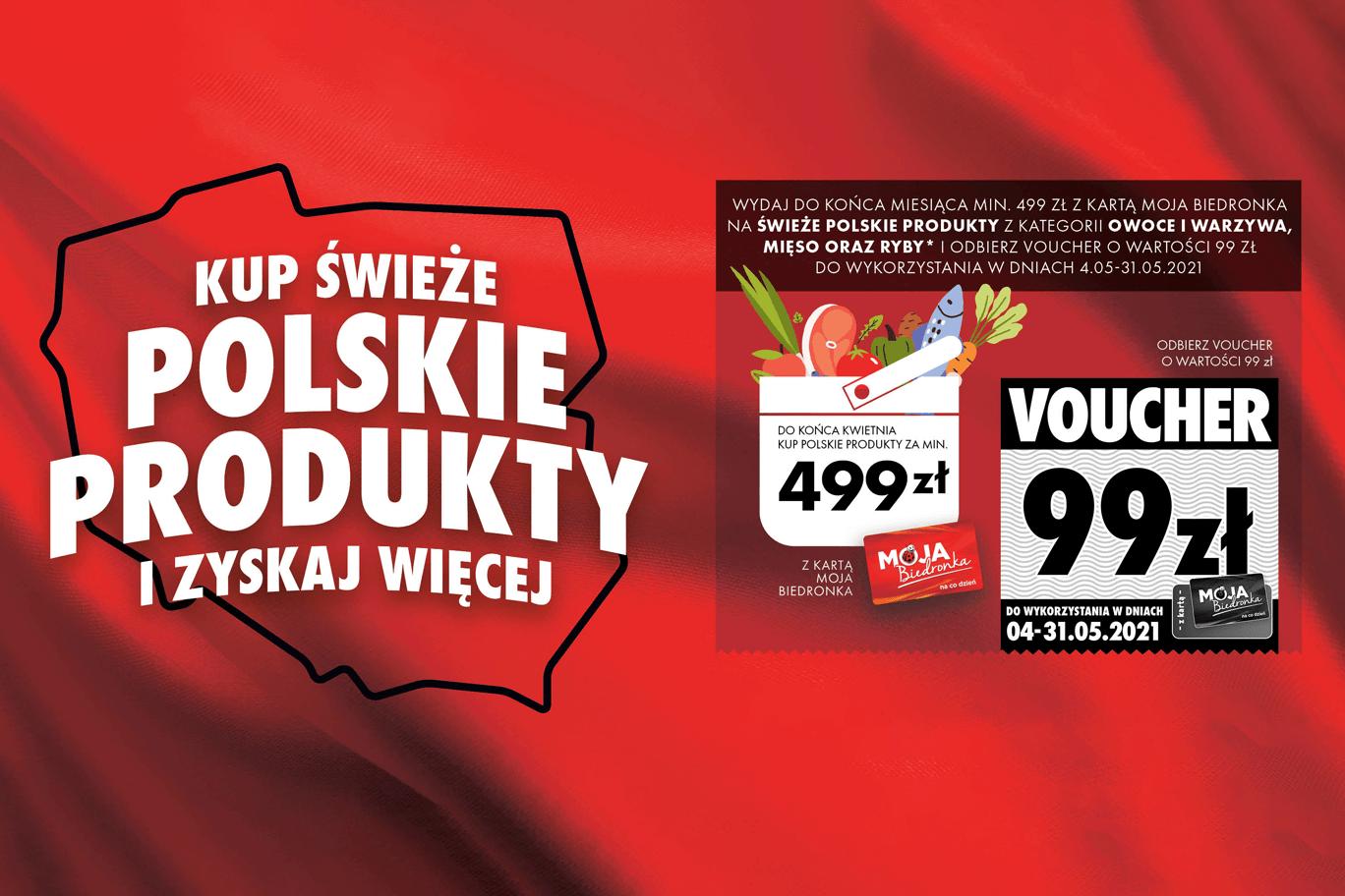 Kupuj polskie produkty w Biedronce i odbierz voucher na darmowe zakupy