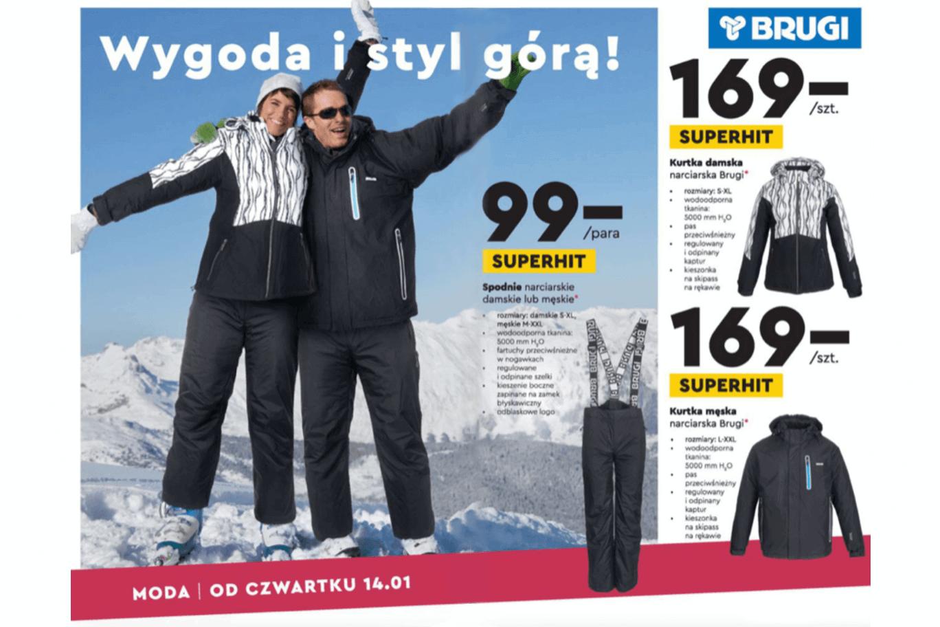 Biedronka dodała do oferty odzież narciarską Brugi